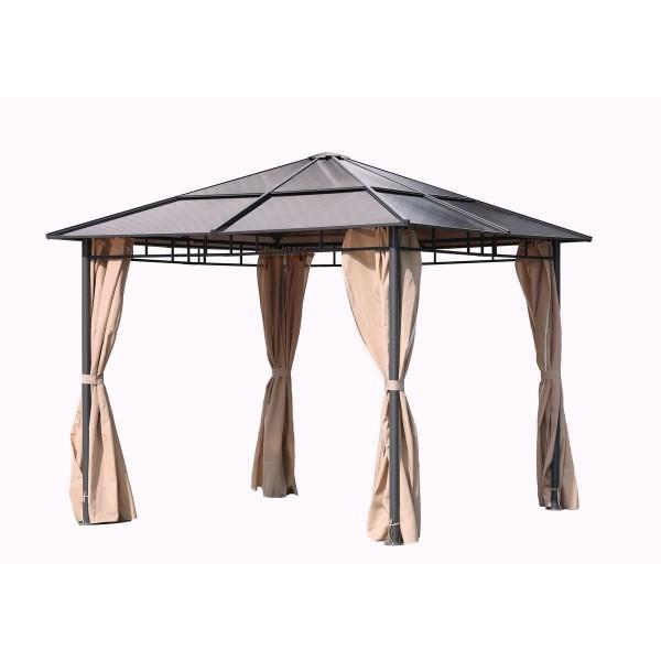 VARILANDO stylischer Pavillon mit festem Polycarbonat-Dach