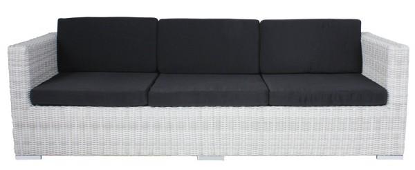 """VARILANDO 5-fach verstellbares Multifunktions-Sofa aus Kunststoffgeflecht in der Farbe """"white wash"""""""