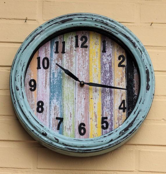 VARILANDO Wanduhr in 2 Varianten Ø 34,5 cm Küchenuhr Deko-Uhr Zeit Zeitmesser Zeiteisen