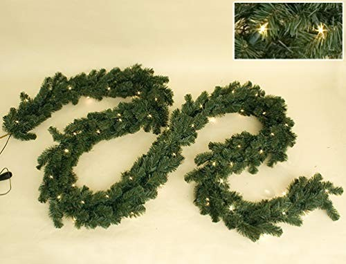 VARILANDO® Tannen-Girlande mit 40 Lichtern outdoor-geeignet Weihnachts-Girlande Weihnachts-Beleuchtu