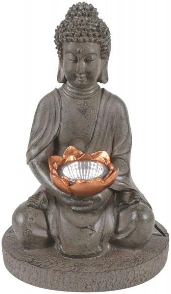 """VARILANDO Solar-Gartenfigur """"Buddha"""""""