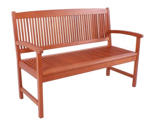 "VARILANDO Gartenbank 2-Sitzer ""Steward"" aus geöltem Eukalyptus Holzbank"