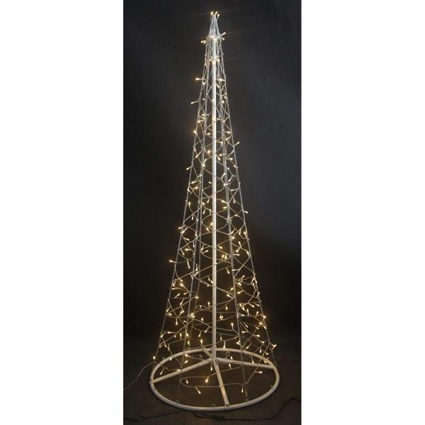 VARILANDO® Outdoor-geeigneter LED-Weihnachtsbaum mit 200 warmweißen LED Tannenbaum Weihnachts-Beleuc