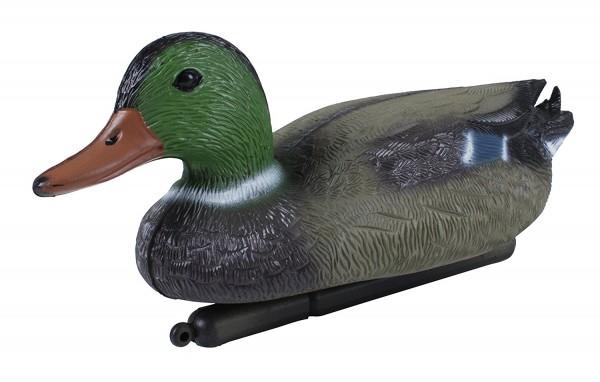 VARILANDO Schwimmende Ente aus Kunststoff für den Gartenteich Tierfigur Dekofigur Teichdekoration
