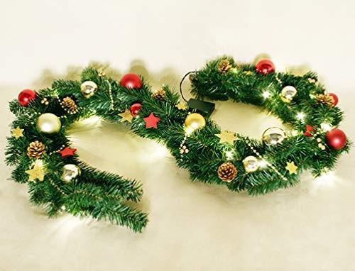 VARILANDO® Festliche Indoor Weihnachts-Girlande Tannen-Girlande Weihnachts-Dekoration Weihnachts-Bel