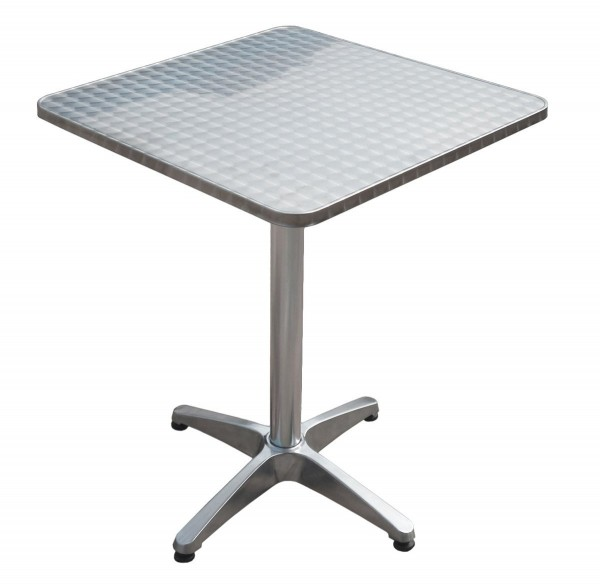 Varilando quadratischer bistro klapptisch aus stahl mit for Tisch 60x60