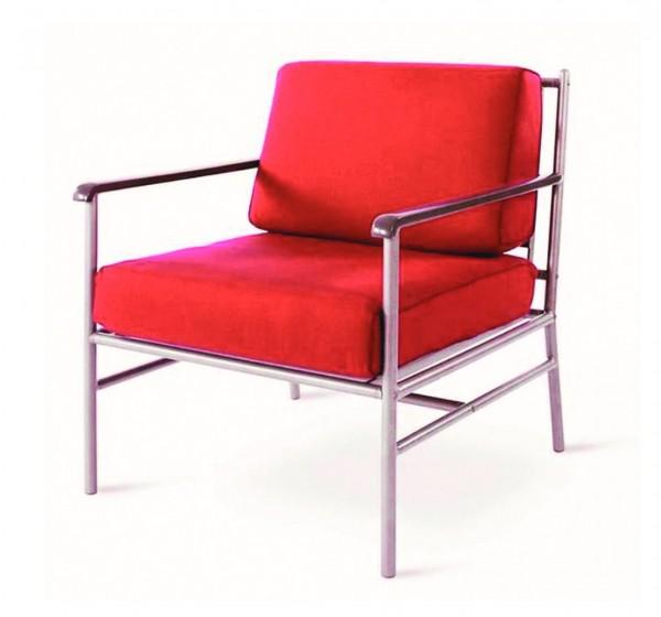"""VARILANDO Kissen-Set """"Karl"""" aus rotem Polyester für Tiefsitzer-Sessel """"Karl"""" Sitz-Kissen Auflagen-Se"""