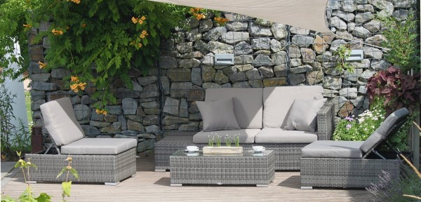 VARILANDO Multifunktionale 4-teilige Lounge-Gruppe