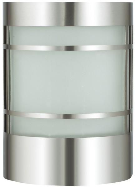 VARILANDO moderne Wandleuchte aus Edelstahl und Glas Wandlampe Außenbeleuchtung