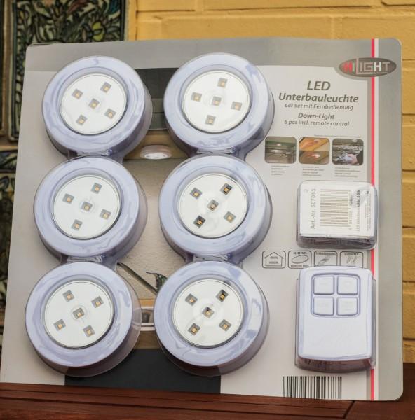 VARILANDO LED-Unterbauleuchte im 6er-Set Innenbeleuchtung Deko-Beleuchtung