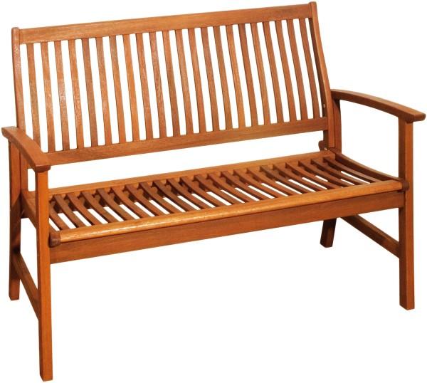 VARILANDO 2-Sitzer Gartenbank aus geöltem Bangkirai Holzbank Sitzbank Parkbank