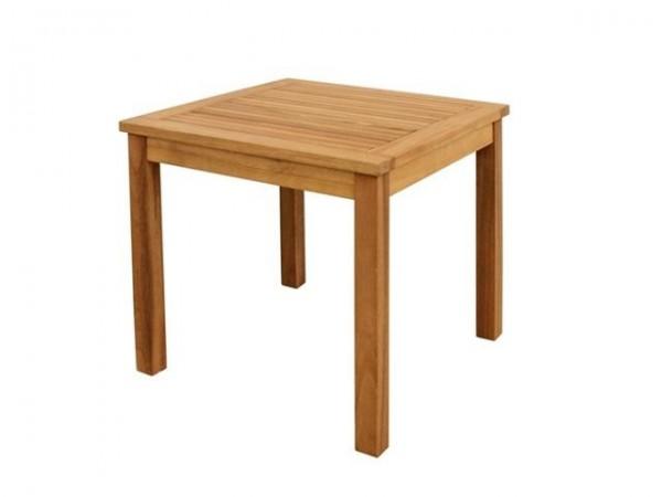 VARILANDO Beistelltisch aus geölter Akazie Holztisch Gartentisch 50x50 cm