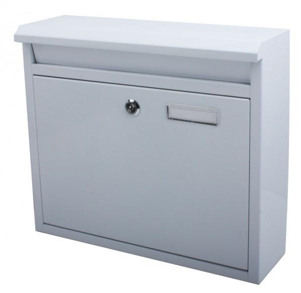 VARILANDO verschließbarer Briefkasten zur Wandmontage in weiß Postkasten