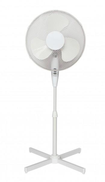 VARILANDO höhenverstellbarer Standventilator in weiß mit 3 Geschwindigkeiten Stand-Lüfter