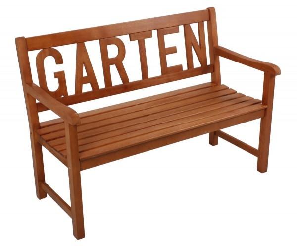 "VARILANDO Gartenbank ""GARTEN"" aus geöltem Eukalyptus als 2-Sitzer Holzbank Sitzbank"