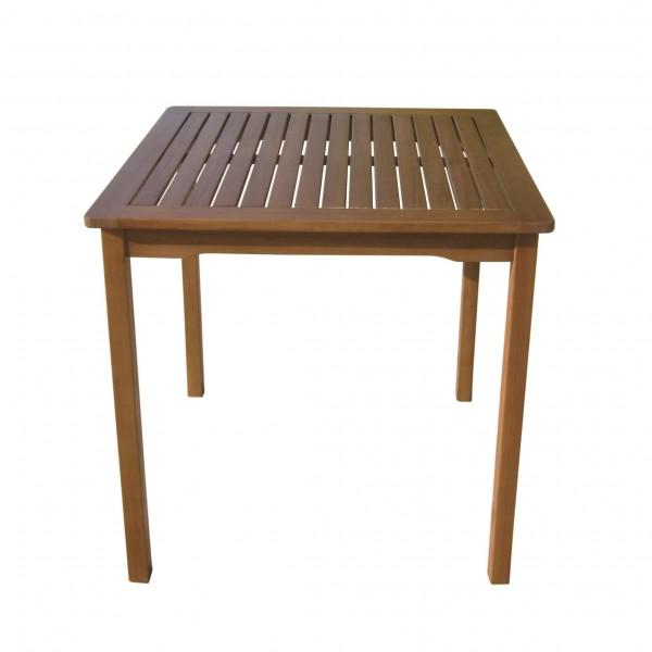"""VARILANDO Gartentisch """"Paul"""" aus geöltem Eukalyptus Holztisch quadratisch 75 cm"""