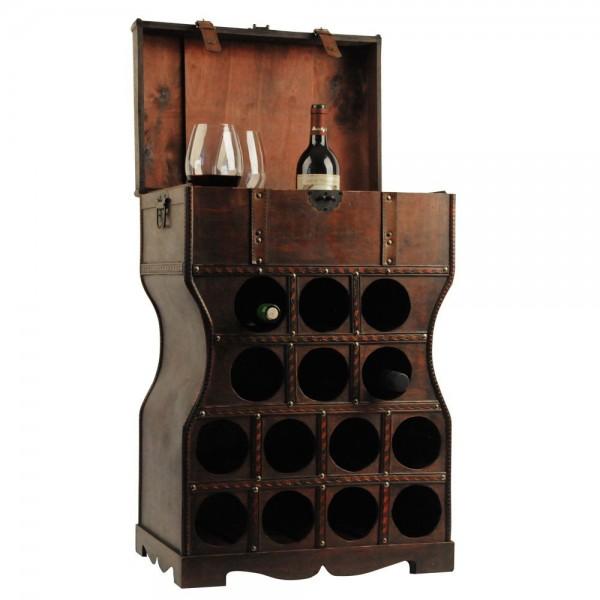 VARILANDO Wein Regal Holz Kiste Metallbeschlag