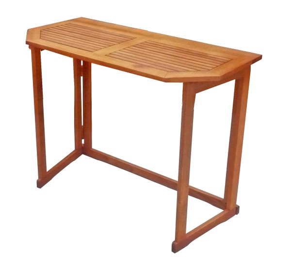 VARILANDO Balkontisch aus geöltem Eukalyptus Gartentisch Holztisch