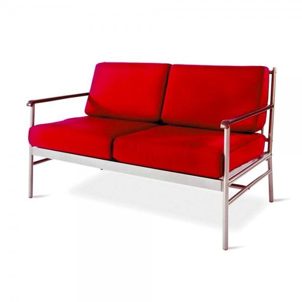 """VARILANDO Kissen-Set """"Karl"""" aus rotem Polyester für 2-Sitzer Sitz-Kissen Auflagen-Set"""