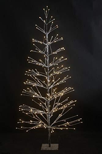 VARILANDO® Outdoor-geeigneter Weihnachtsbaum mit 296 warmweißen LED Weihnachts-Beleuchtung