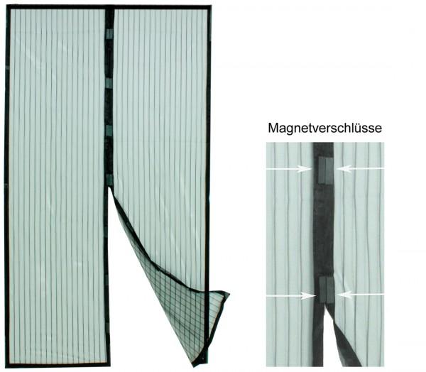 VARILANDO Insektenschutzvorhang mit Magnetverschluss 210 cm Fliegen-Schutz Magnetvorhang Insekten-Ne