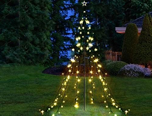 VARILANDO® Lichter-Pyramide Lichtpyramide Weihnachtsbaum Weihnachten Lichterkette mit 200 LED