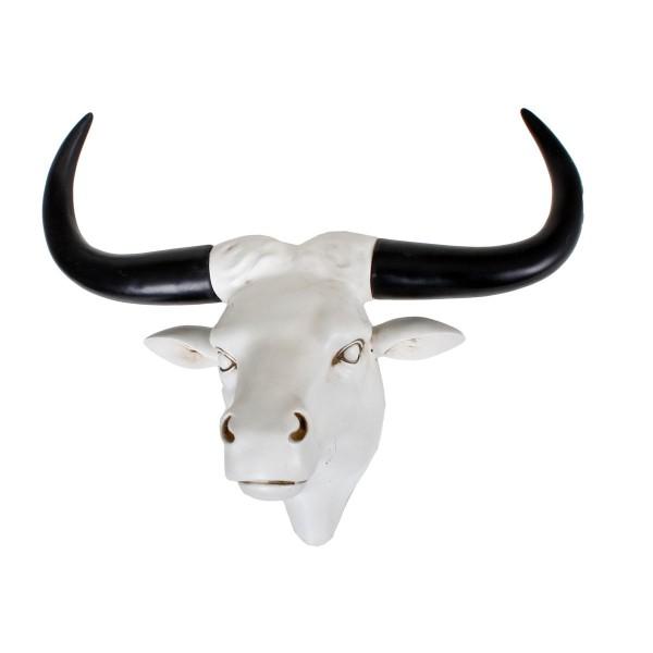 VARILANDO Büffel-Kopf aus Polyresin als Wanddekoration Büffel-Schädel Taxidermy