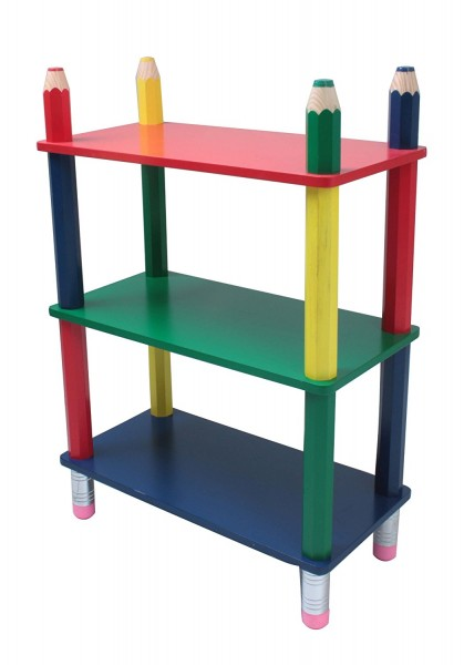 "VARILANDO Kinderregal ""Bleistift"" Kindermöbel Regal für Kinder Kinderzimmer"