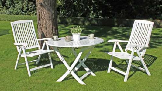 """VARILANDO Tischgruppe """"Toledo"""" mit 2 Stühlen Sitzgruppe Klappstühle"""
