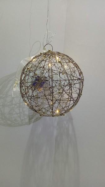 VARILANDO® LED-Weihnachtskugel Weihnachts-Dekoration Winter-Dekoration