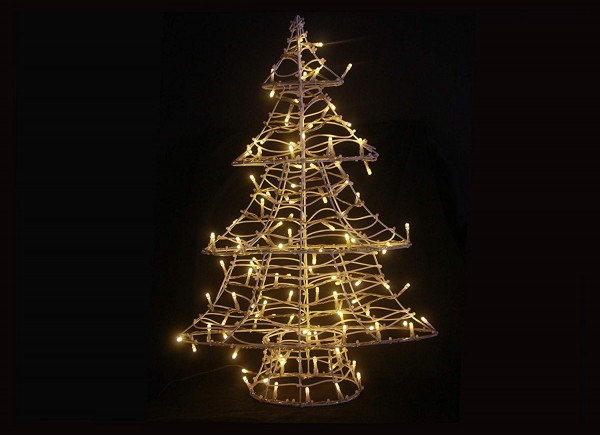 VARILANDO® Outdoor-geeigneter LED -Weihnachtsbaum 60 cm warmweiß Weihnachts-Beleuchtung