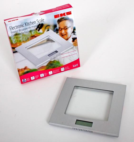 VARILANDO ultraflache elektronische Küchenwaage aus Edelstahl