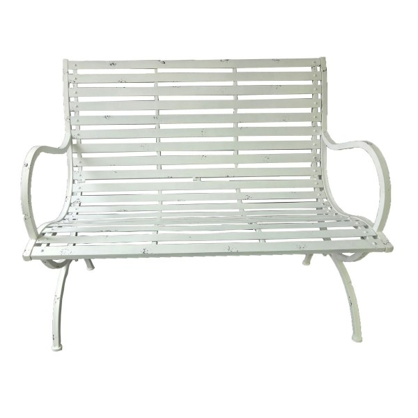 VARILANDO Gartenbank aus Metall im Antik-Look als 2-Sitzer Sitzbank ...