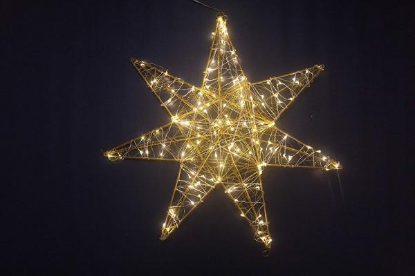 VARILANDO® Óutdoor-geeigneter LED-Weihnachtsstern 150 LED in warmweiß Lichterstern Weihnachts-Dekora