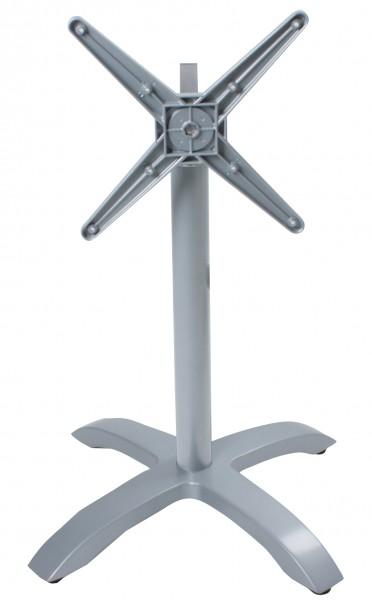 """VARILANDO Tischgestell """"Picos"""" aus Aluminiumguss klappbar 4-Fuß für Garten oder Gastronomie"""