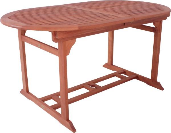 """VARILANDO Gartentisch """"Steward"""" oval und ausziehbar Eukalyptus geölt Holztisch"""