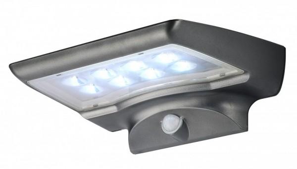 VARILANDO warmweiße Solar-Wandleuchte mit 8 LED und Bewegungsmelder Wand-Lampe Solar-Leuchte