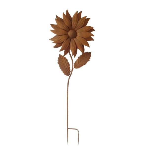 """VARILANDO Metall-Gartenschild """"Sonnenblume"""" Dekoschild Garten-Schild Gartendekoration Rost-Optik 141"""