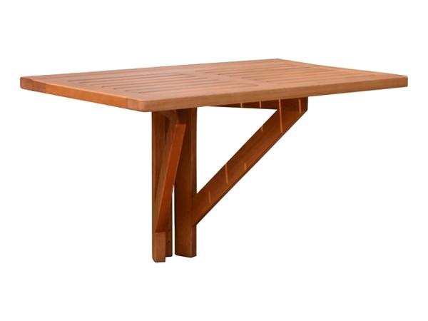 """VARILANDO Hängetisch """"Stanford"""" aus geöltem Eukalyptus Balkontisch Gartentisch Holztisch"""